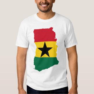 Ghana flag map tshirts