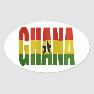 Ghana + flag oval sticker