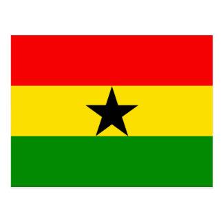 Ghana Flag Postcard