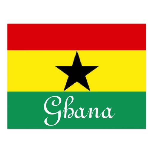 Ghana flag post card