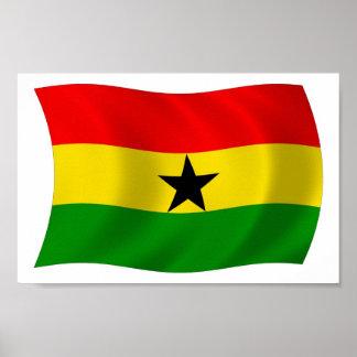 Ghana Flag Poster Print