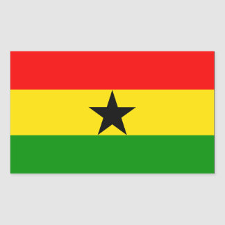Ghana Flag Rectangular Sticker