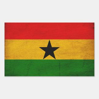 Ghana Flag Rectangular Sticker