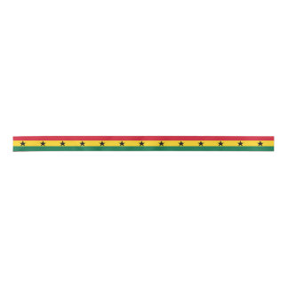 Ghana Flag Satin Ribbon