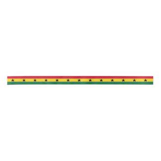 Ghana Flag Satin Ribbon
