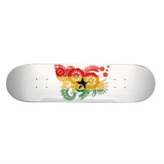 Ghana Flag Skate Board