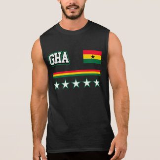 Ghana Flag Sleeveless Shirt