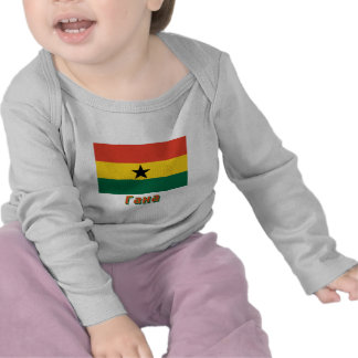 Ghana Flag with name in Russian Tee Shirts