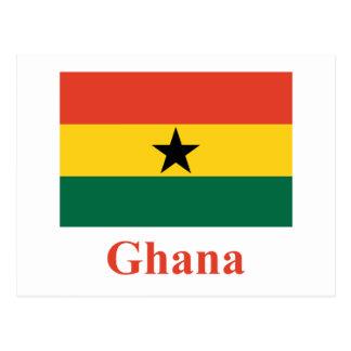 Ghana Flag with Name Postcard