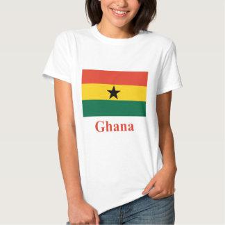 Ghana Flag with Name Tee Shirt