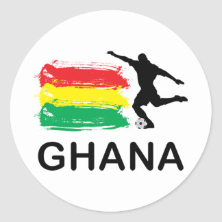 Ghana Football Classic Round Sticker