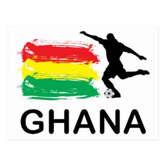 Ghana Football Postcard