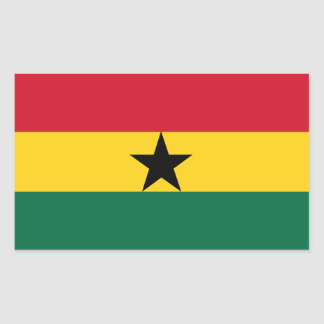 Ghana/Ghanaian Flag Rectangular Sticker