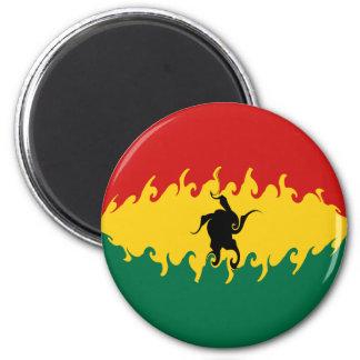 Ghana Gnarly Flag 6 Cm Round Magnet