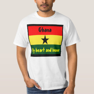 Ghana-heart and home t-shirts