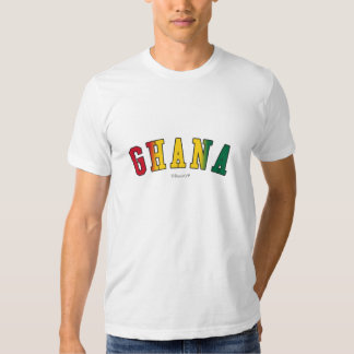 Ghana in national flag colors shirt