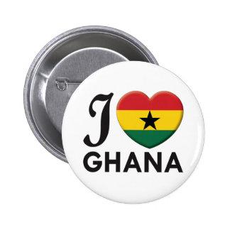 Ghana Love Pinback Buttons