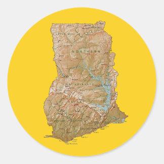 Ghana Map Sticker