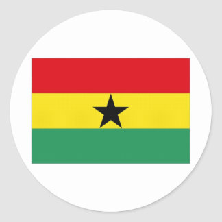 Ghana National Flag Classic Round Sticker