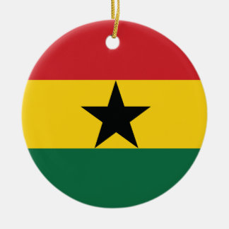 Ghana Plain Flag Christmas Ornament