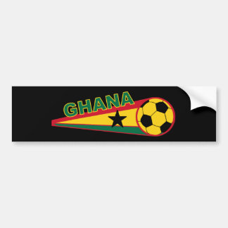 Ghana Soccer ball and flag design Bumper Sticker