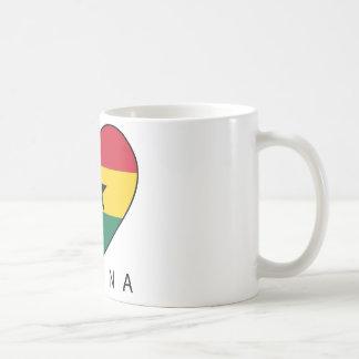 """Ghana Soccer Heart """"GHANA"""" - heart Basic White Mug"""