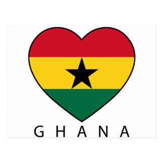 "Ghana Soccer Heart ""GHANA"" - heart Postcard"