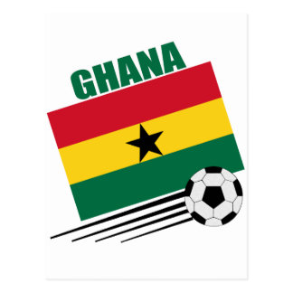 Ghana Soccer Team Postcard
