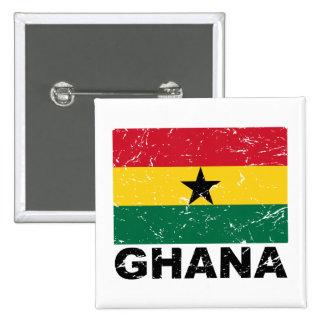 Ghana Vintage Flag Buttons