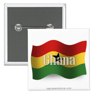 Ghana Waving Flag Pins