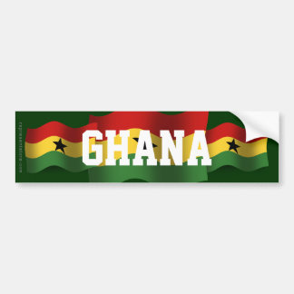 Ghana Waving Flag Bumper Sticker