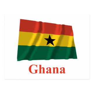 Ghana Waving Flag with Name Postcard