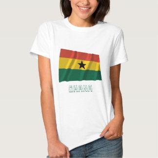 Ghana Waving Flag with Name T Shirts