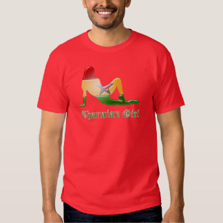 Ghanaian Girl Silhouette Flag Tshirt