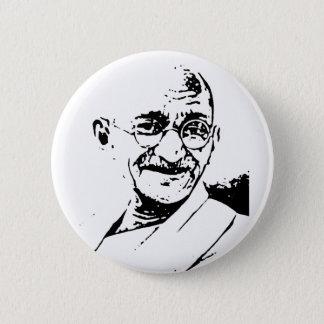 Ghandi 6 Cm Round Badge