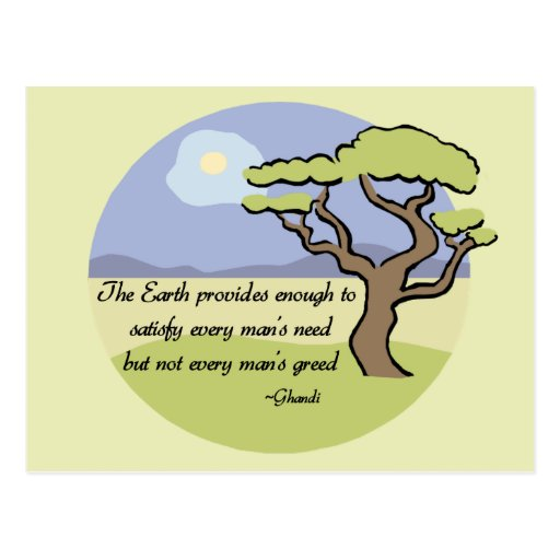 Ghandi Earth quote Post Card