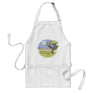 Ghandi Earth quote Standard Apron