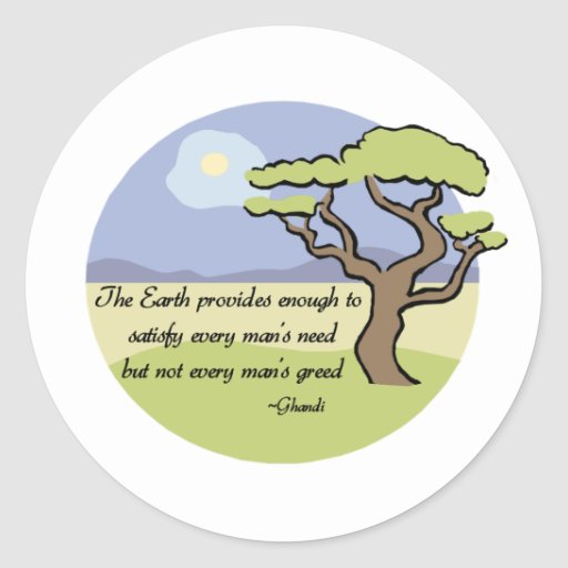 Ghandi Earth quote sticker