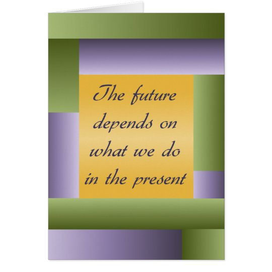 Ghandi inspirational quote Notecard - add your own