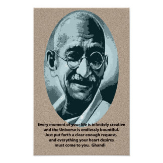 Ghandi quotation poster