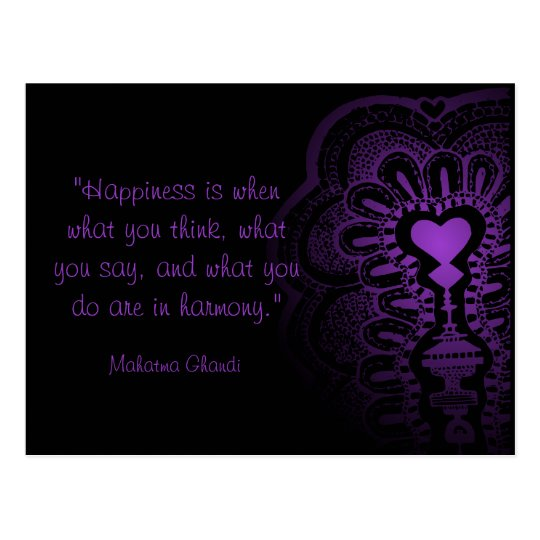 Ghandi quote india henna purple heart love pink