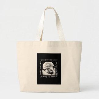 ghandi tread lightly jumbo tote bag