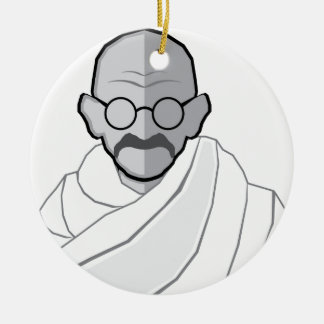 Ghandi Vector Christmas Ornament