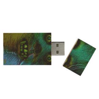 Ghastly Ghoul Wood USB 2.0 Flash Drive