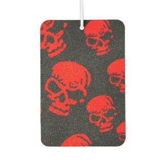 Ghastly Red Skulls on Black Car Air Freshener
