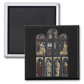 Ghent Altarpiece, Hubert & Jan van Eyck Square Magnet