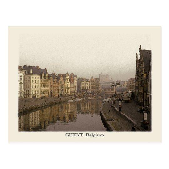Ghent, Vintage Style Postcard