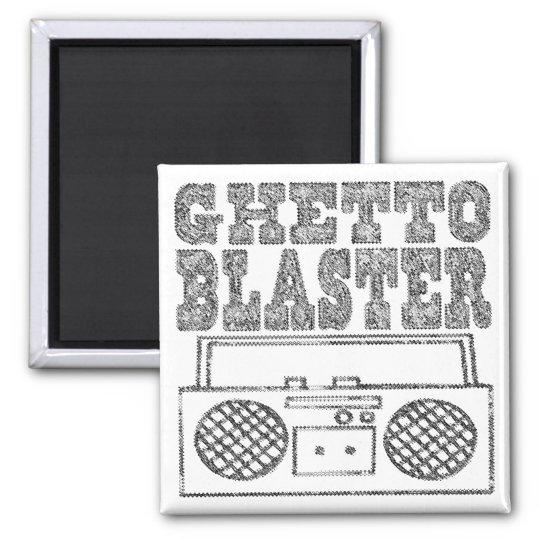 Ghetto Blaster-Magnet Square Magnet