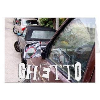 ghetto. car. greeting card