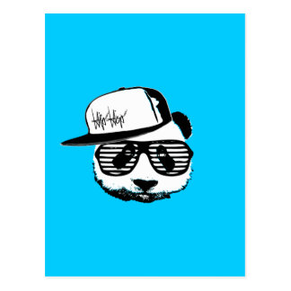 Ghetto panda postcard
